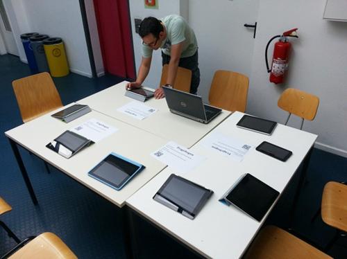 Erhebungs-Station mit mobilen Endgeräten