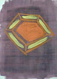 Tuschbild mit Pentagon aus dem Deckfarbenkasten