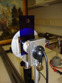 Aufbau Webcam mit UV-Filterfolie Lee798